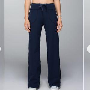 Lululemon Still Yoga Pants Wide Leg Inkwell Navy